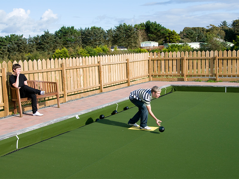 Try your skill at outdoor bowls