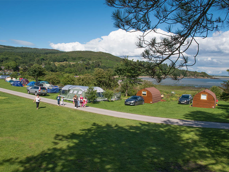 Glamping and camping area