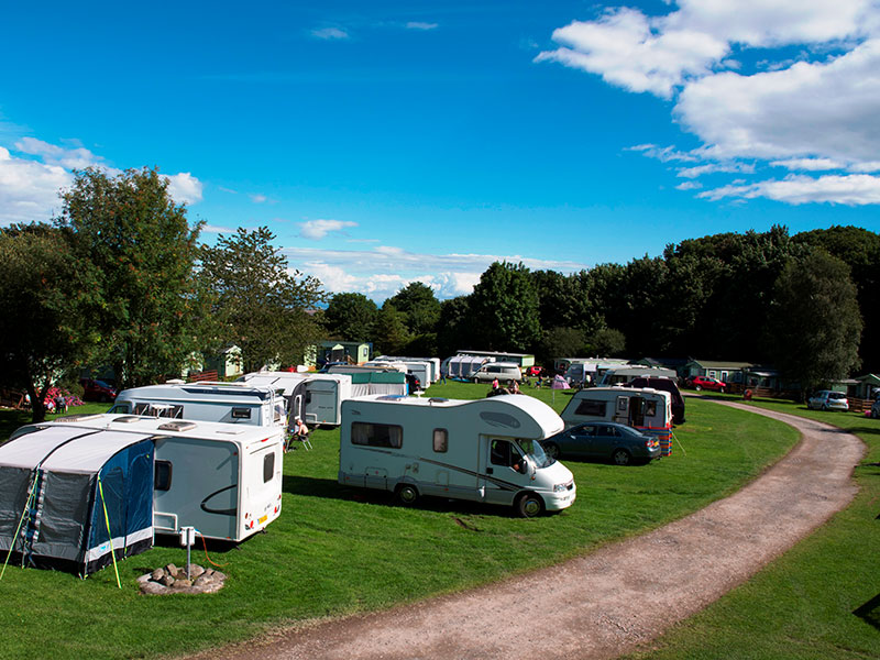 Electric pitches for motorhomes and tourers